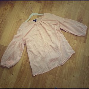 3 FOR $15 Blush puff sleeve blouse